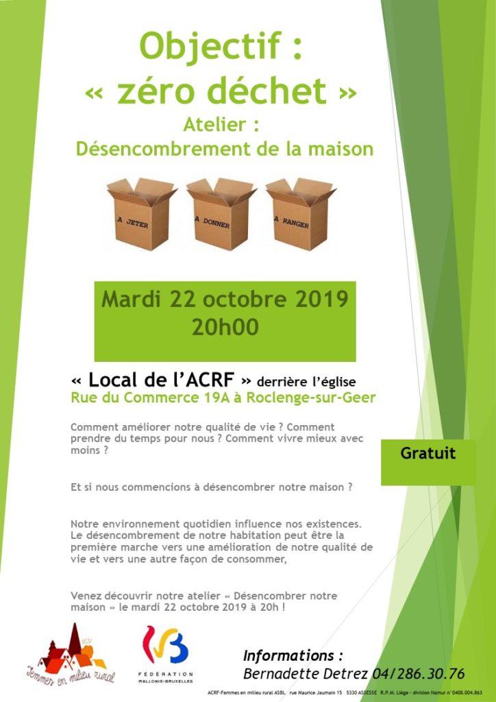 Affiche désencombrement Roclenge octobre 2019