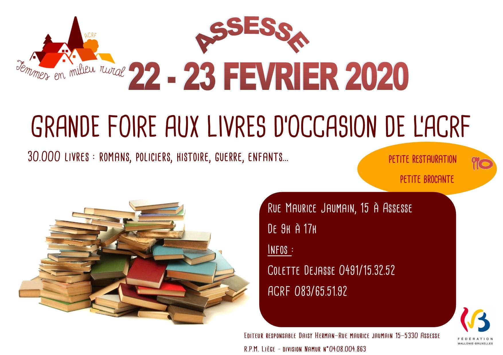 affiche Foire aux livres 2020 Assesse A6