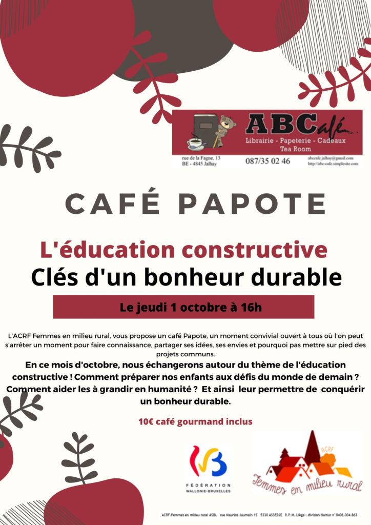 Café papote octobre